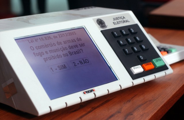 Electronic voting machine used in Brazilian elections. (Agência Brasil/Wiki Commons)