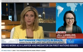 Discussing Brazil protests on CTVNews